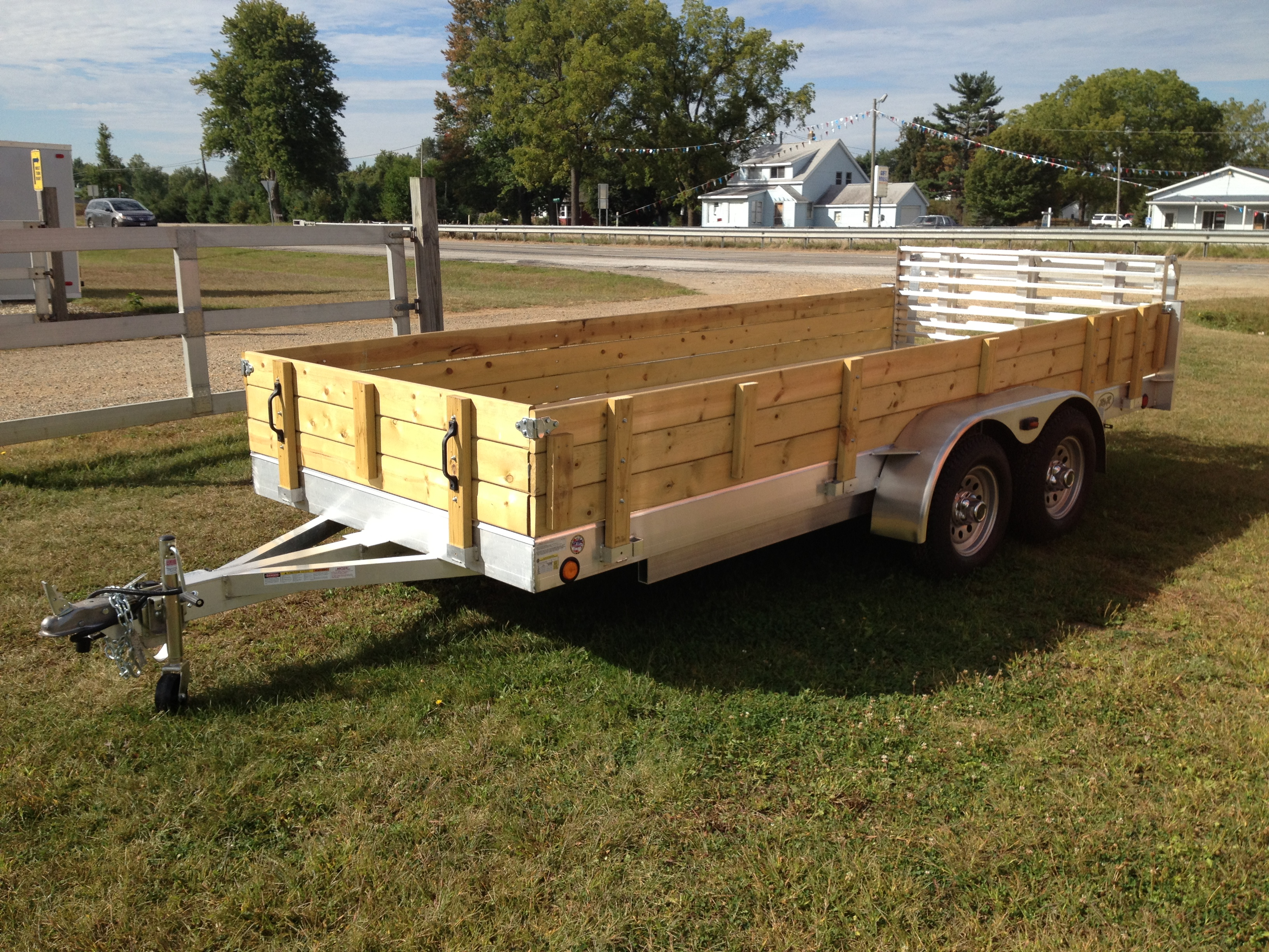 Aluminum utility trailer ut series wood floor w wood sides wood sides baanklon Images
