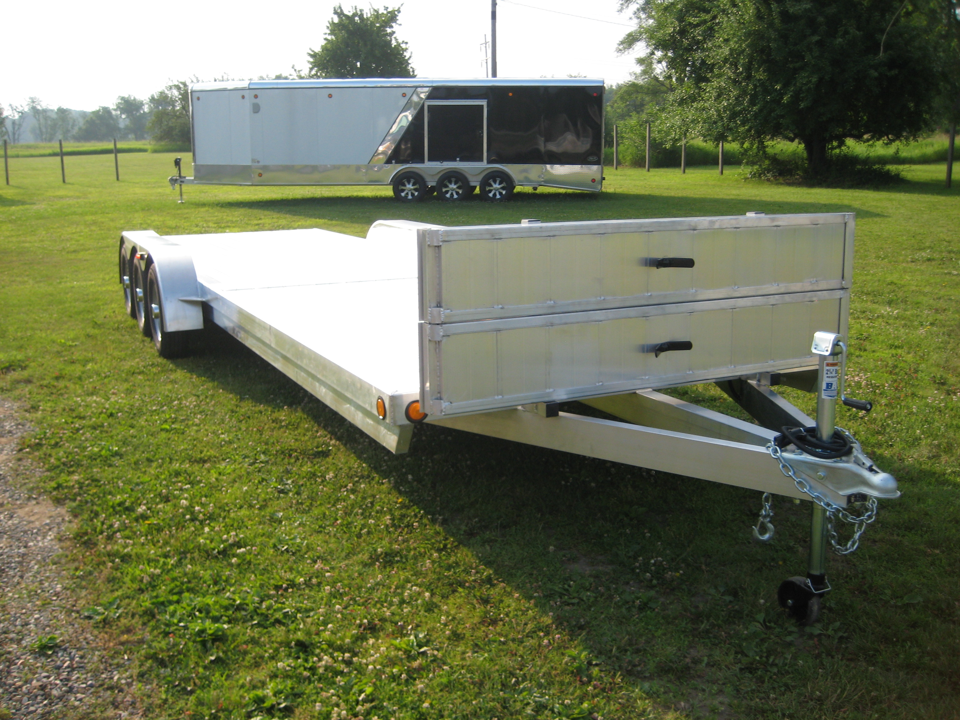 Aluminum Enclosed Car Hauler Trailer For Sale
