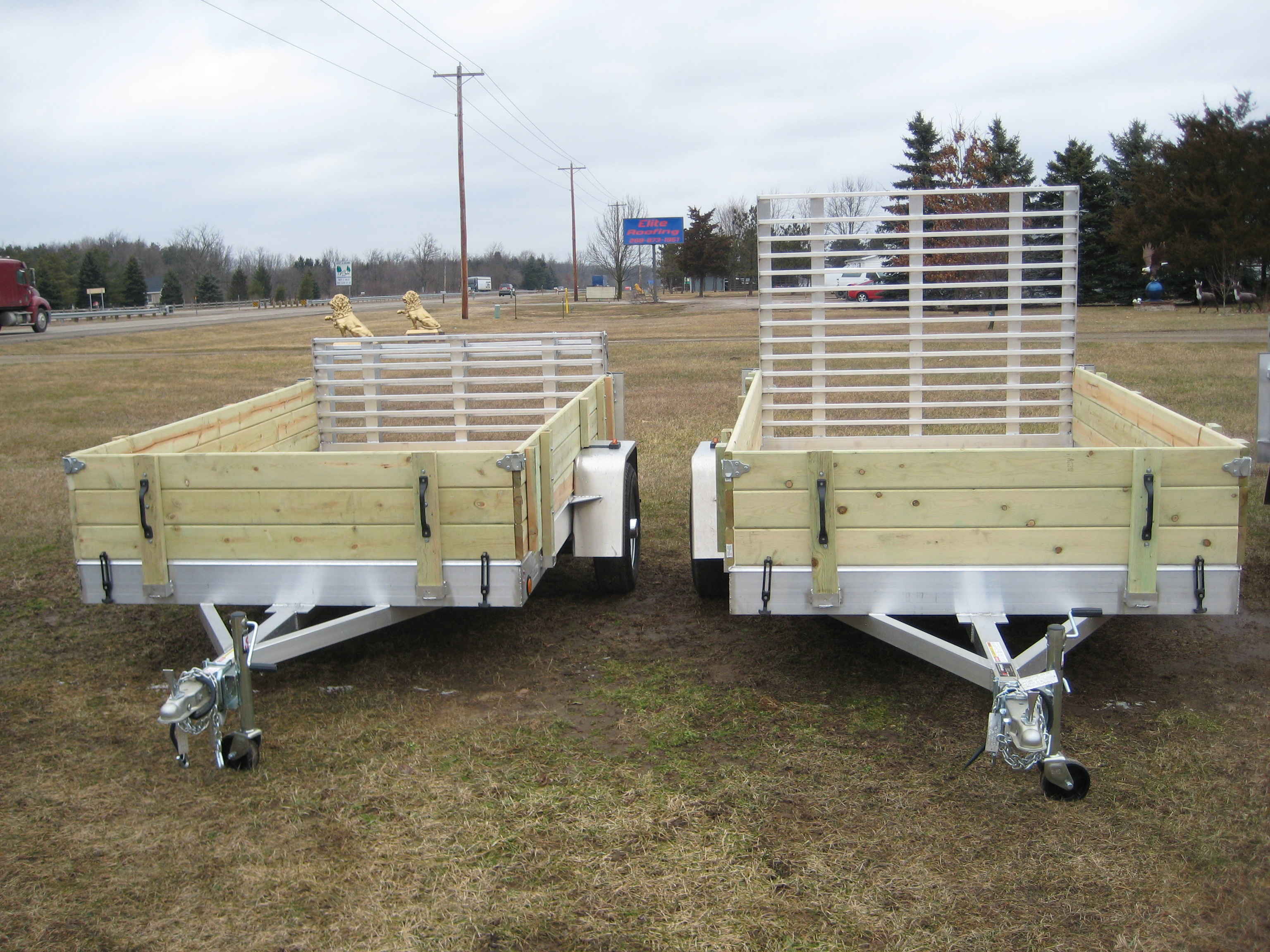 Aluminum Utility Trailer Ut Series Wood Floor W Wood