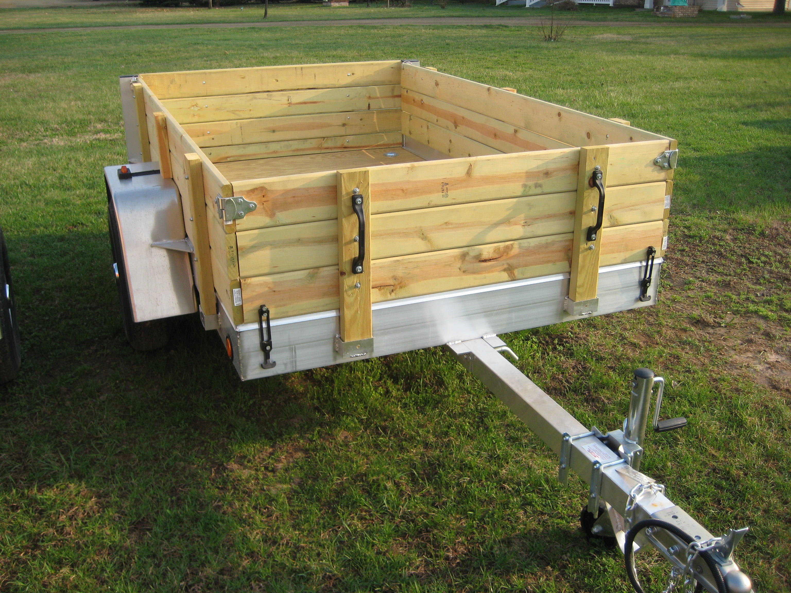 Diy Floor Plans Aluminum Utility Trailer Ut Series Wood Floor W Wood