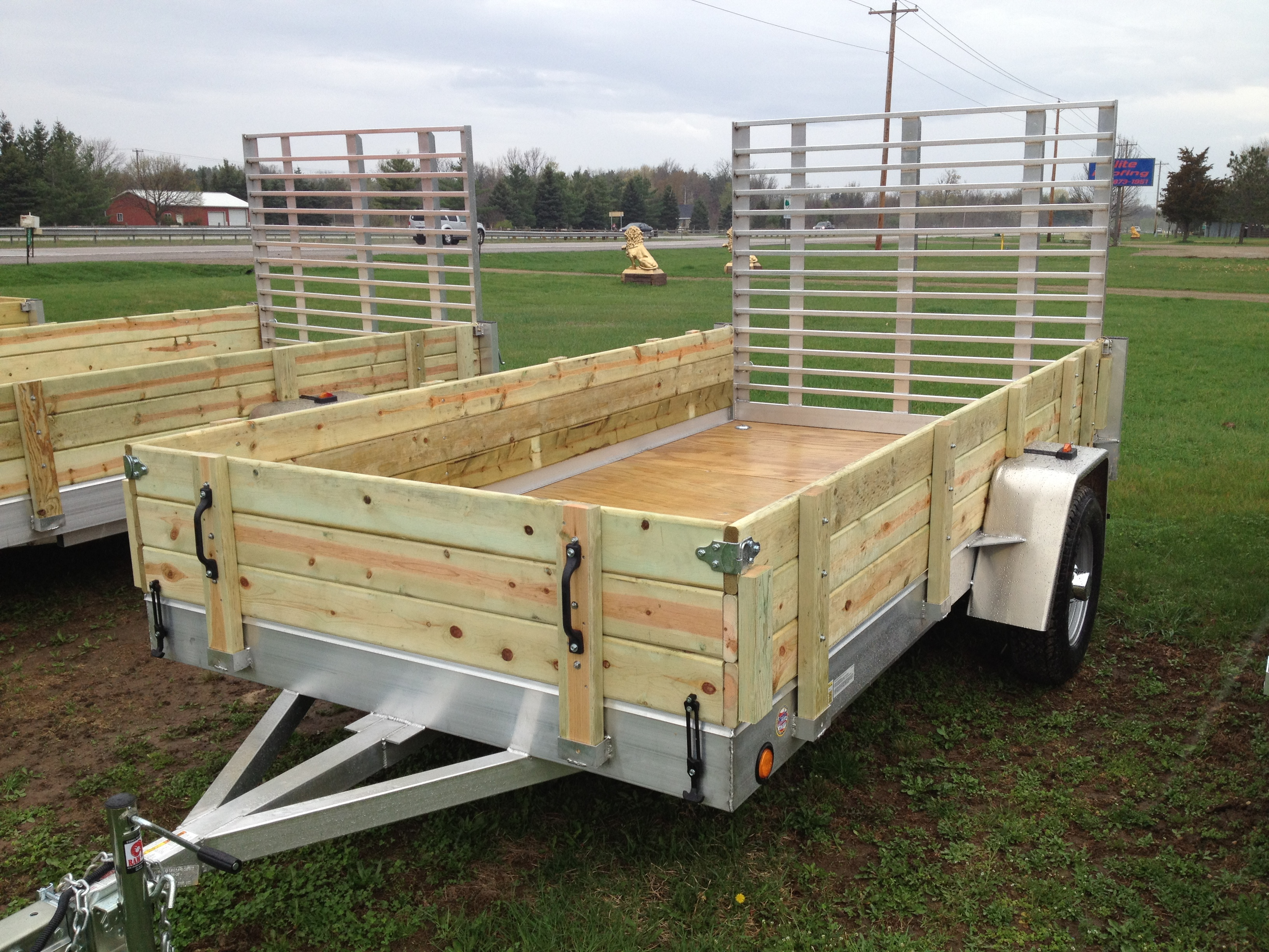 Aluminum utility trailer ut series wood floor w wood for 6x12 wood floor trailer