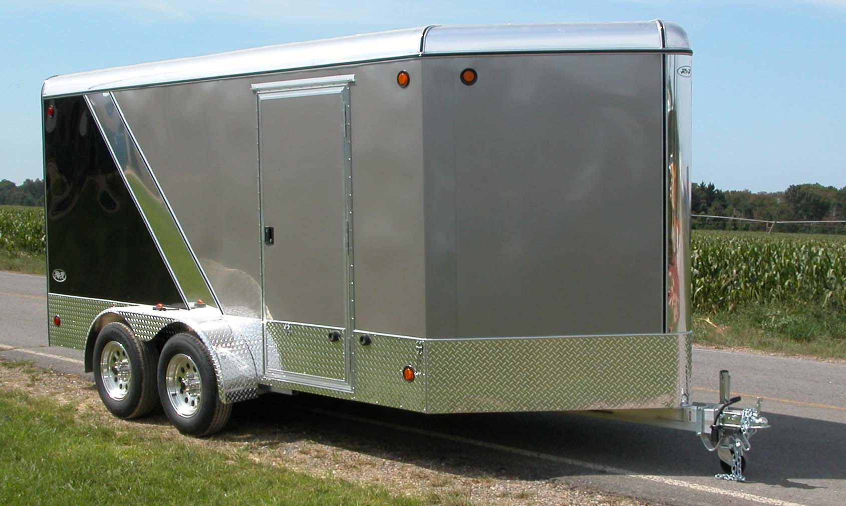 Custom single front doors - Home Aluminum Cargo Trailers Aluminum Cargo Trailer Vdc