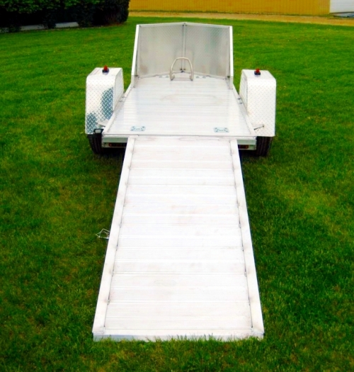 R and R Aluminum Trailers - OMC1 (back with ramp)