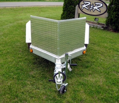 R and R Aluminum Trailers - OMC1 (front)