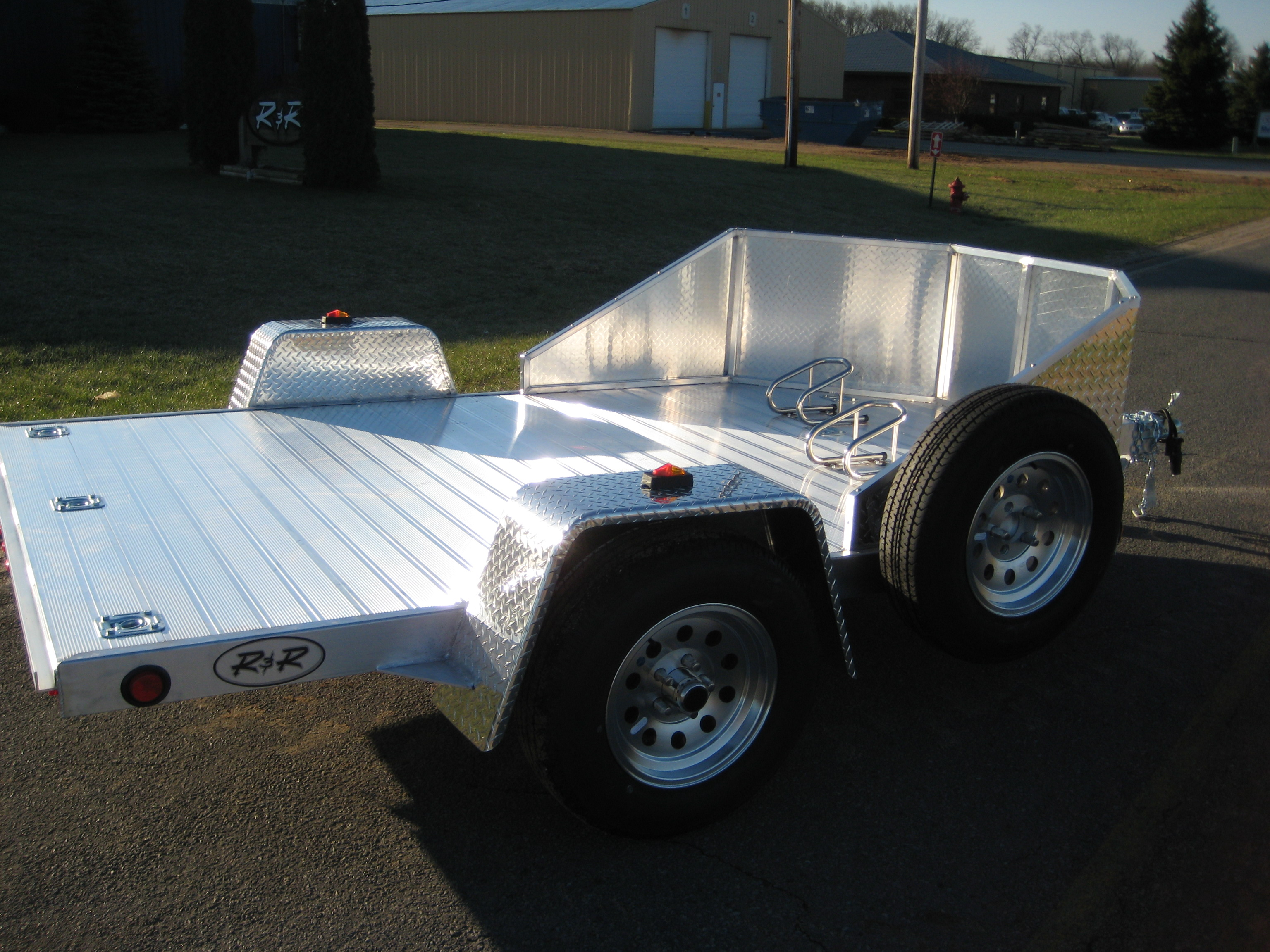 motorcycle trailer aluminum trailers open omc series rnr chad
