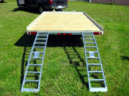 R and R Aluminum Trailers - 712QT (back with ramps)
