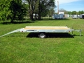 R and R Aluminum Trailers - 712QT (side with back ramps)