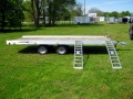 R and R Aluminum Trailers - 716QT (side with ramps)
