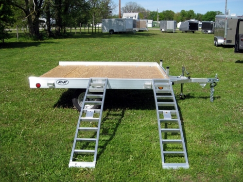 R and R Aluminum Trailers - 78QT (side with ramps)